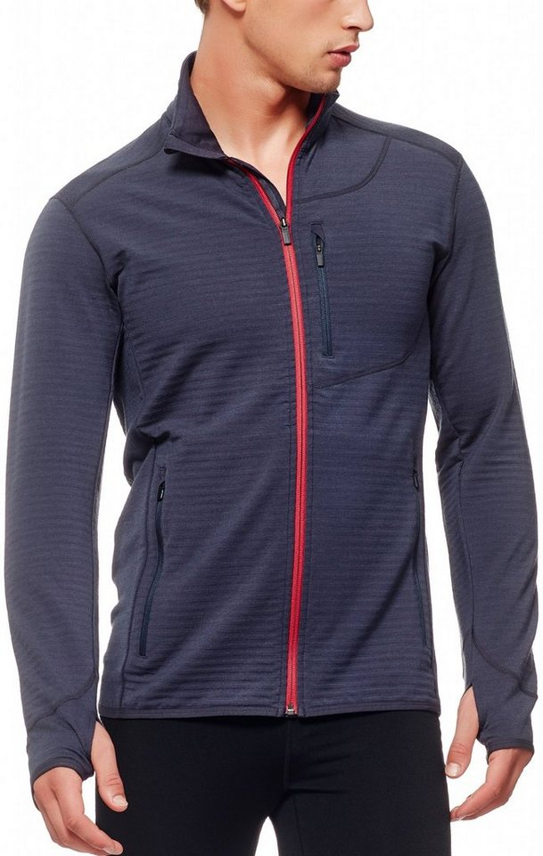 Icebreaker Pullover »Descender LS Zip Shirt Men« in blau