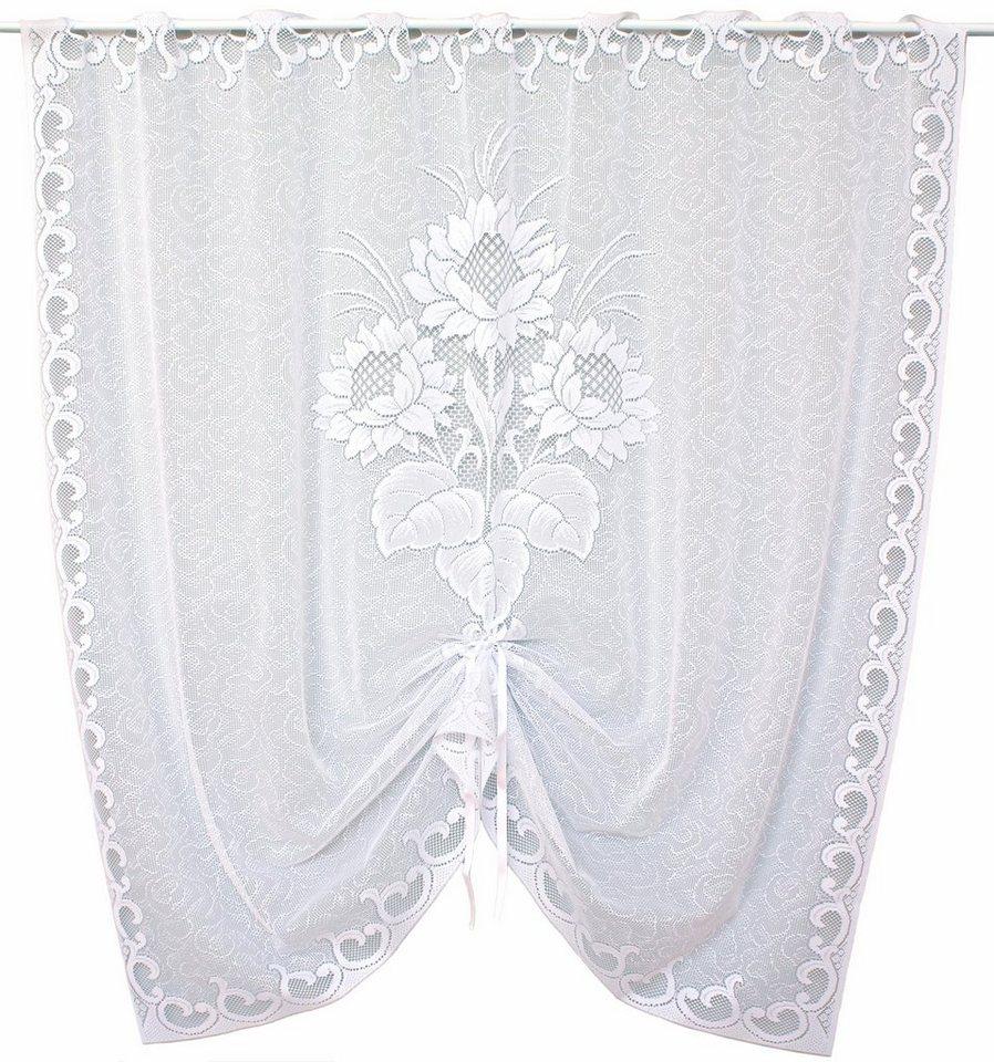 Scheibengardine, VHG, »Sunny«, mit Stangendurchzug (1 Stück) in weiß