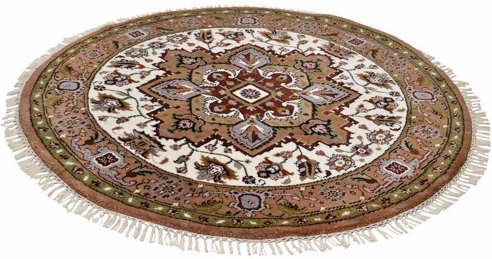 Orient-Teppich,Theko,»Heriz Imperial«, 4 kg/m², 75 000 Knoten/m², handgeknüpft,reine Schurwolle in braun