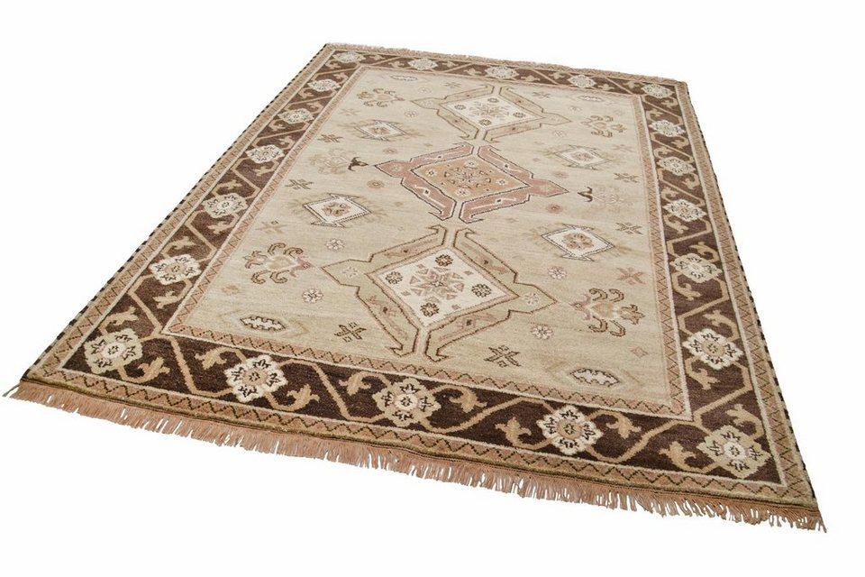 Orient-Teppich,Theko,»Kazak Imperial«,4 kg/m², 75 000 Knoten/m², handgeknüpft, reine Schurwolle in beige