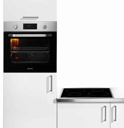 "Samsung Induktions-Backofen-Set ""NV70K2340RS + NZ64H37075K"""