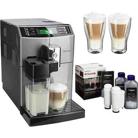 Saeco Kaffeevollautomat HD8867/11 Minuto mit Milchkaraffe, silber