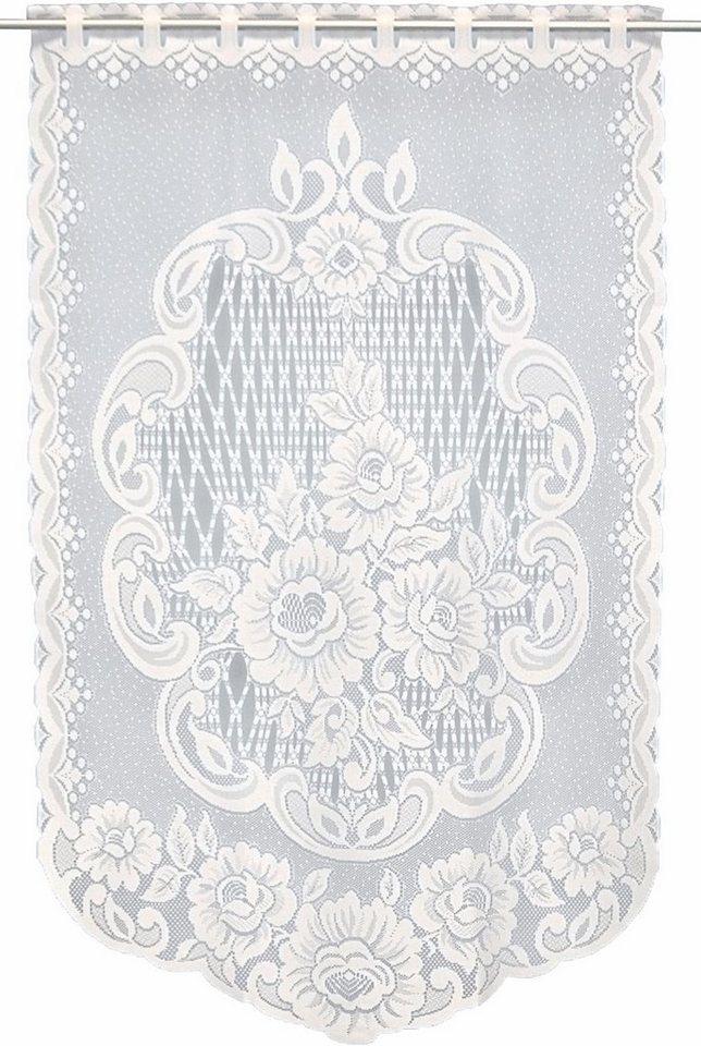 Scheibengardine, Vhg, »Frieda« (1 Stück) in weiß