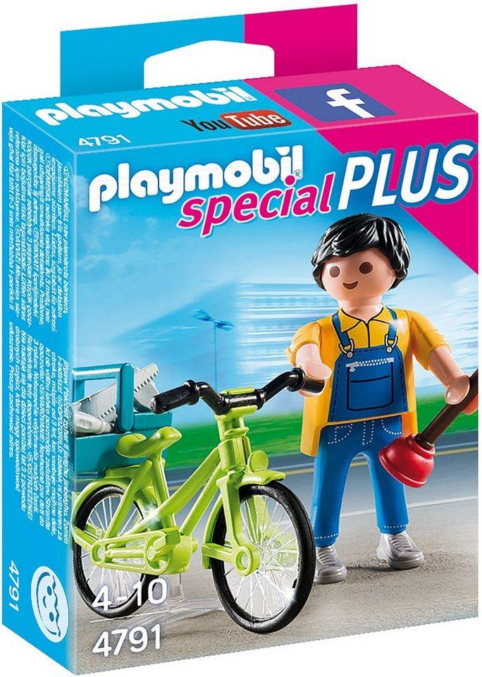 Playmobil® Handwerker mit Fahrrad (4791), »Special Plus«