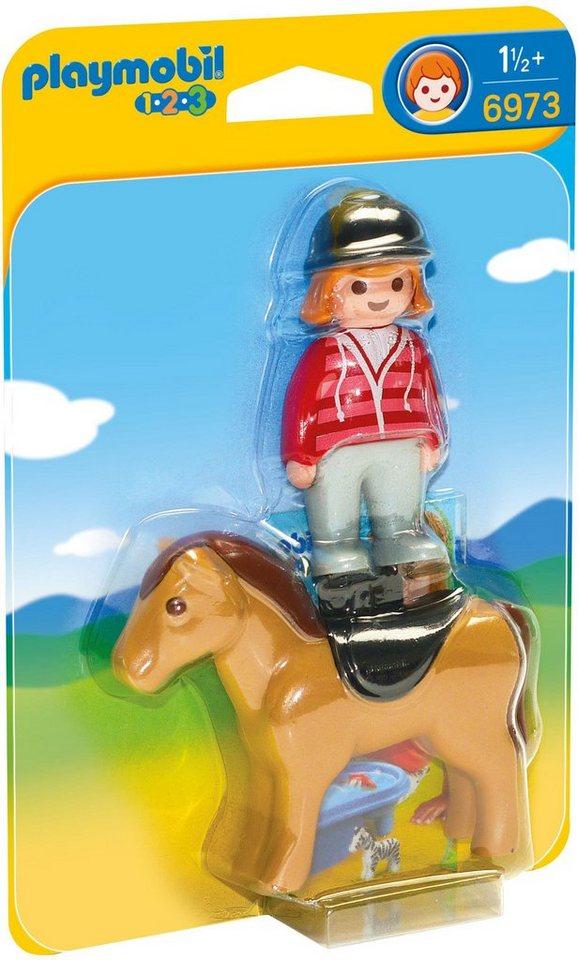 Playmobil® Reiterin mit Pferd (6973), »Playmobil 1-2-3«
