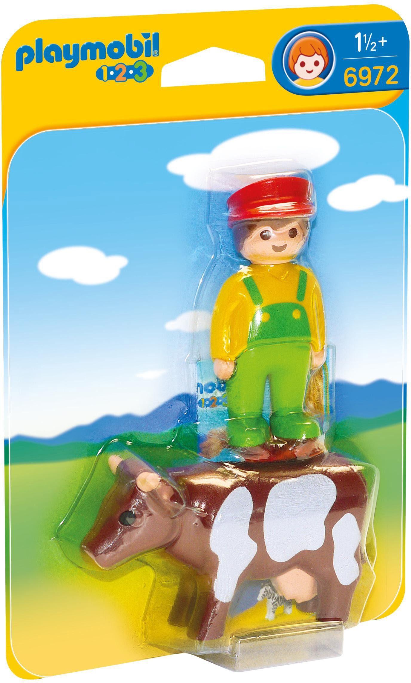 Playmobil® Bauer mit Kuh (6972), »Playmobil 1-2-3«
