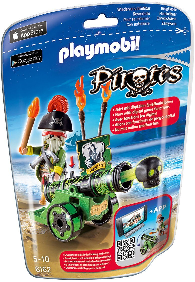 Playmobil® Grüne App-Kanone mit Piratenkapitän (6162), »Pirates«