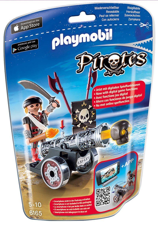 Playmobil® Schwarze App-Kanone mit Seeräuber (6165), »Pirates«