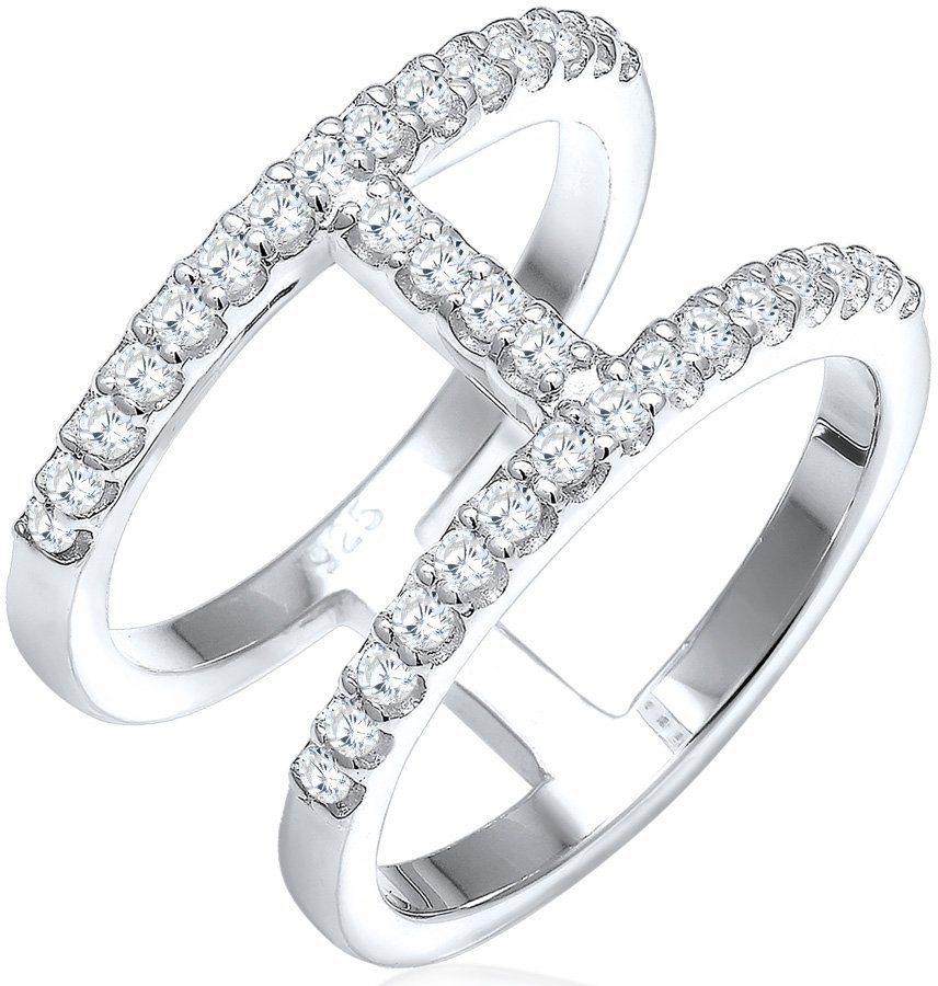 Elli Ring mit Zirkonia, »Geo, 0602360216« in Silber 925