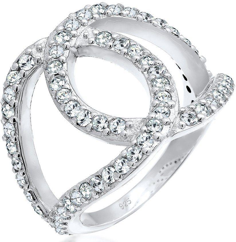Elli Ring mit Swarovski® Kristallen, »Love-Knots 0602510216« in Silber 925