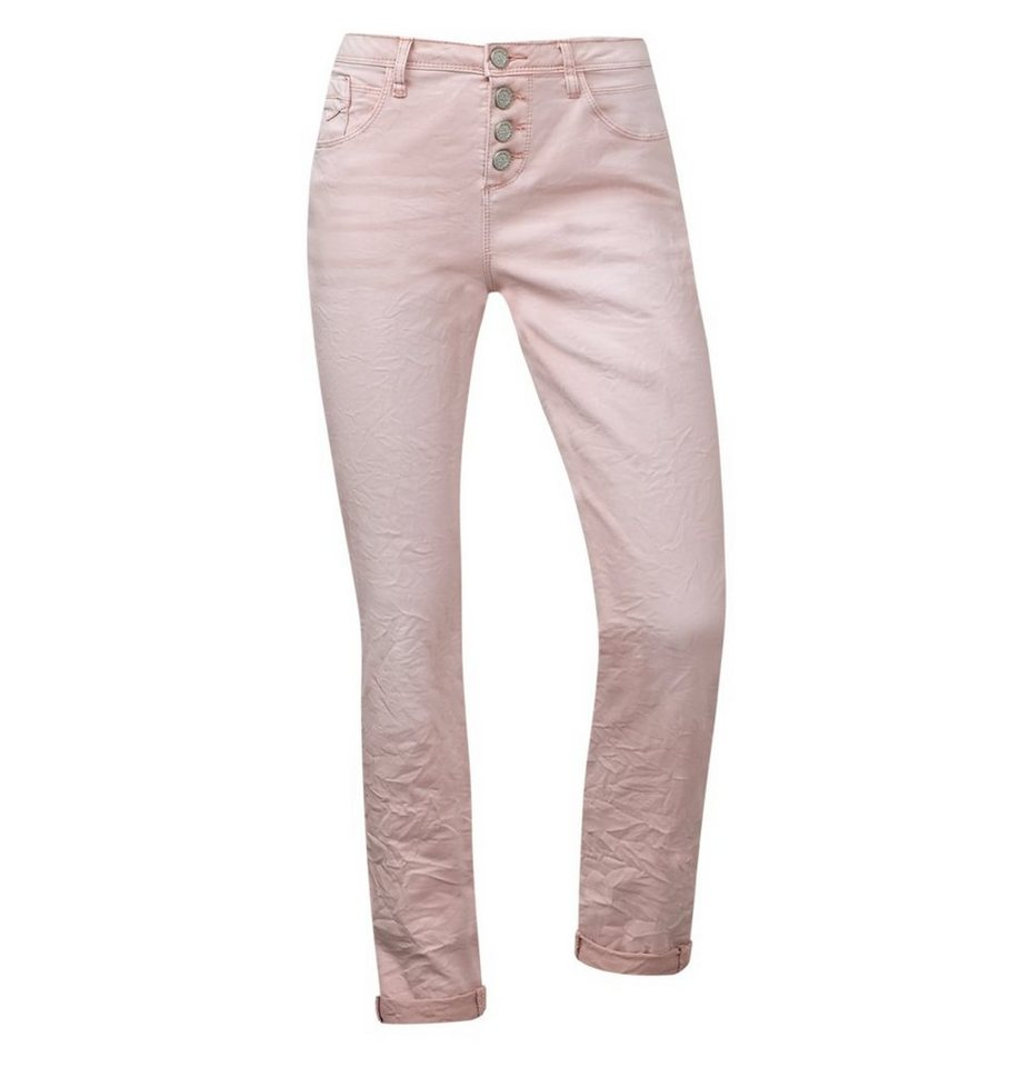 Street One Low Waist Crash-Denim Rob in spume rose washed