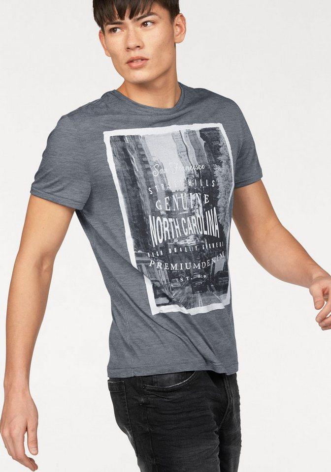 John Devin T-Shirt in dunkelgrau-meliert