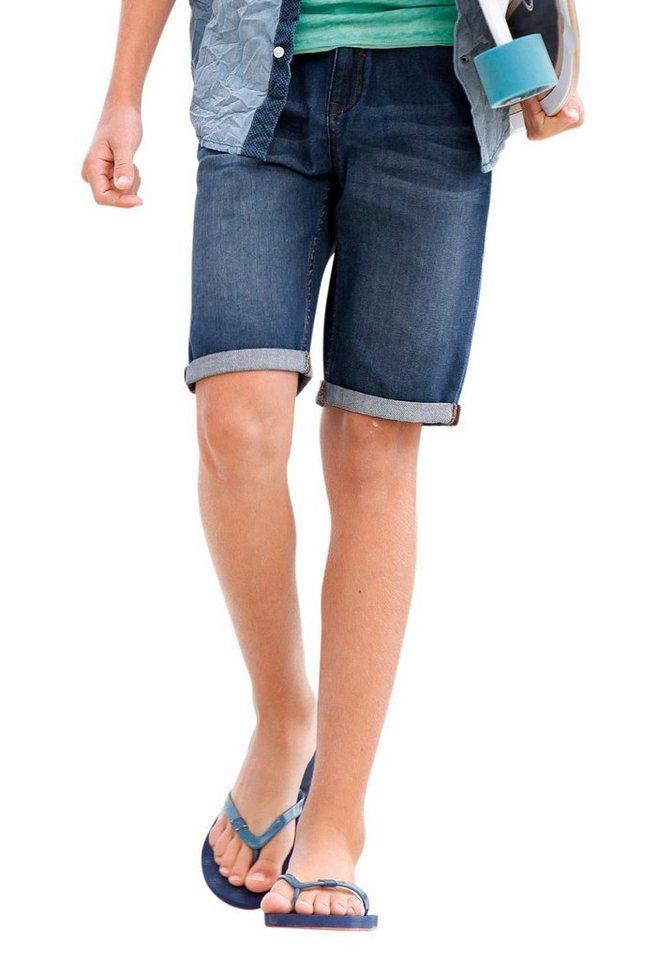 s.Oliver RED LABEL Junior Jeansbermudas in blue-denim