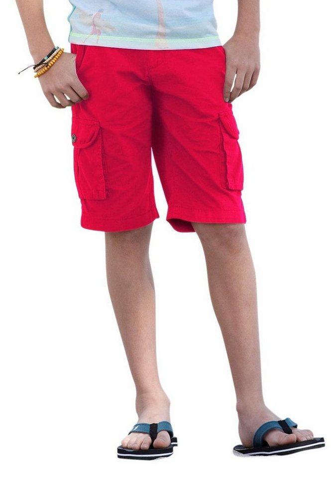Arizona Bermudas mit Textilgürtel (Set) in rot