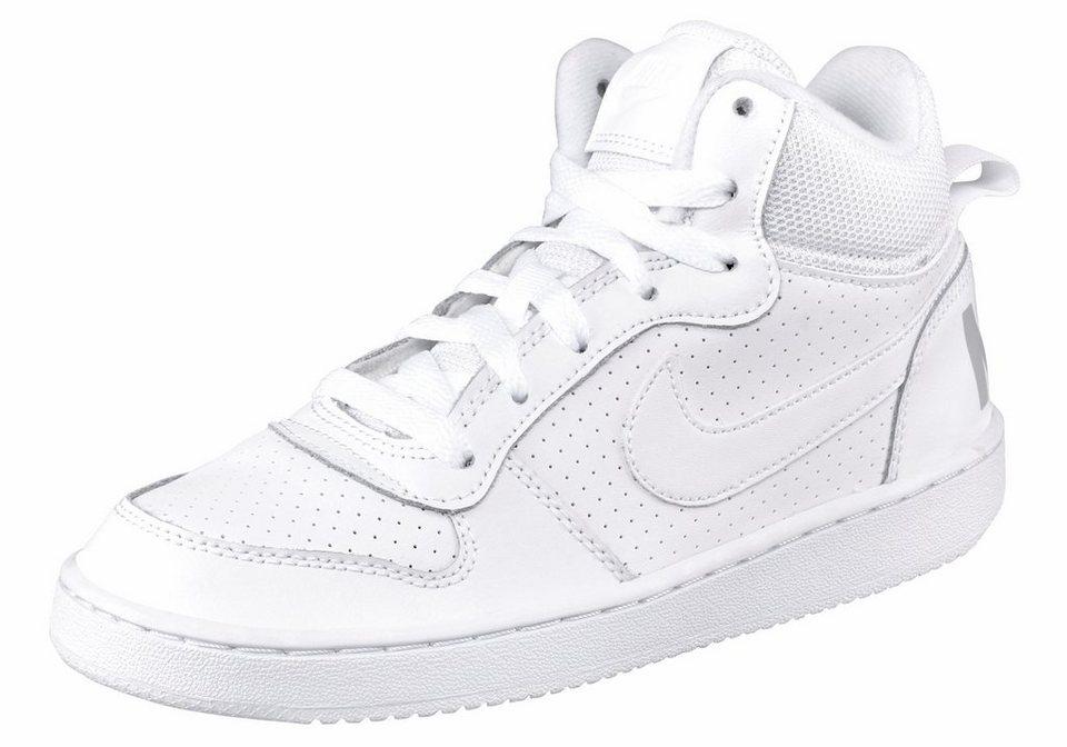 Nike »Court Borough Mid (GS)« Sneaker in weiß-weiß
