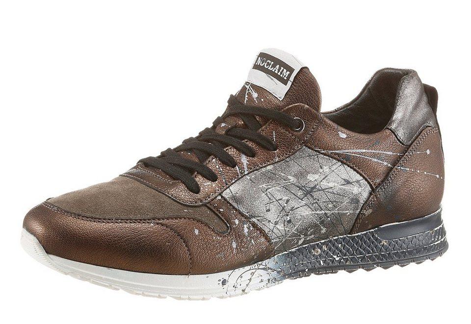 NOCLAIM »Racy 9« Sneaker handbemalt in braun-grau