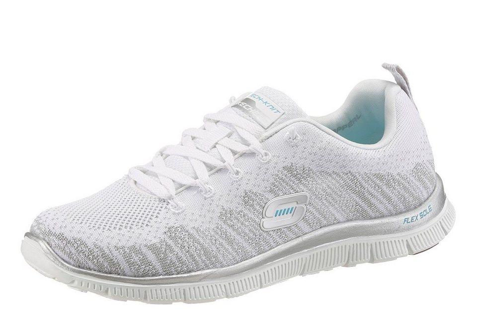 Skechers »Flex Appeal-Instant Hit« Sneaker in weiß-grau
