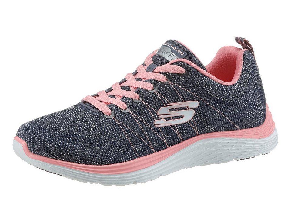Skechers Sneaker mit Memory Foam in navy-rosé