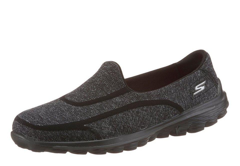 Skechers Slipper in schwarz-meliert