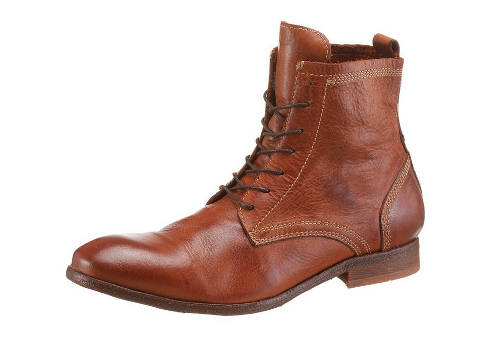Hudson London »Swathmore« Schnürstiefel in cognac-used
