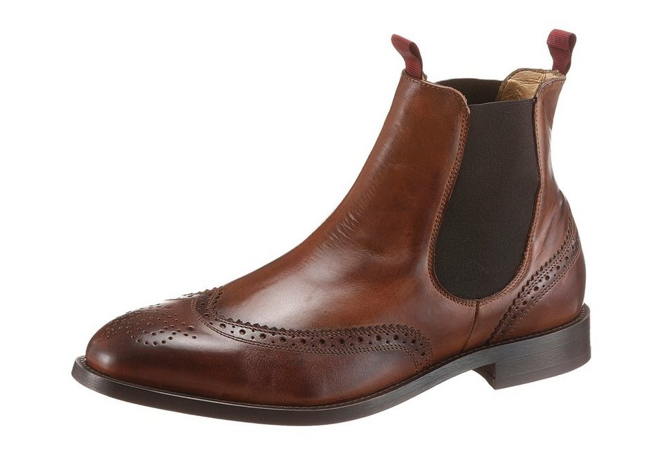 Hudson London »Breslin« Chelseaboots mit Lyralochung in braun-used