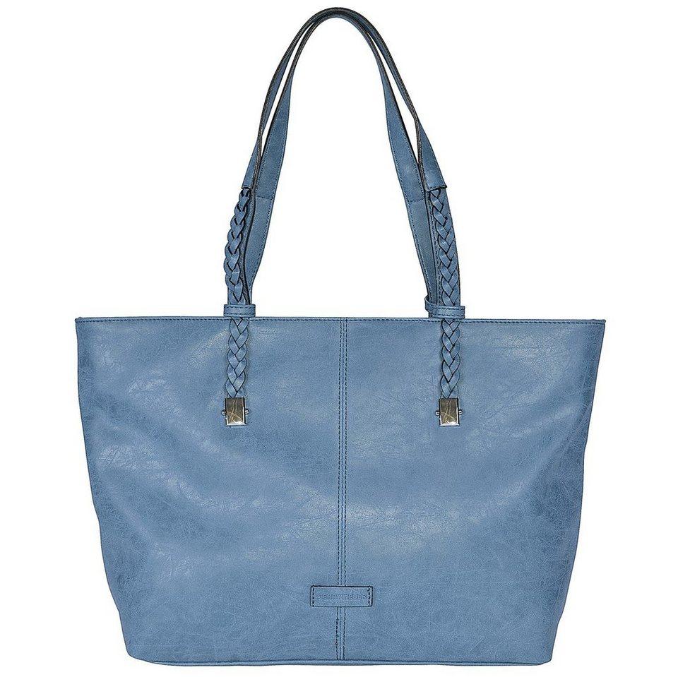Gerry Weber Braided Shopper Tasche 33 cm in dark blue