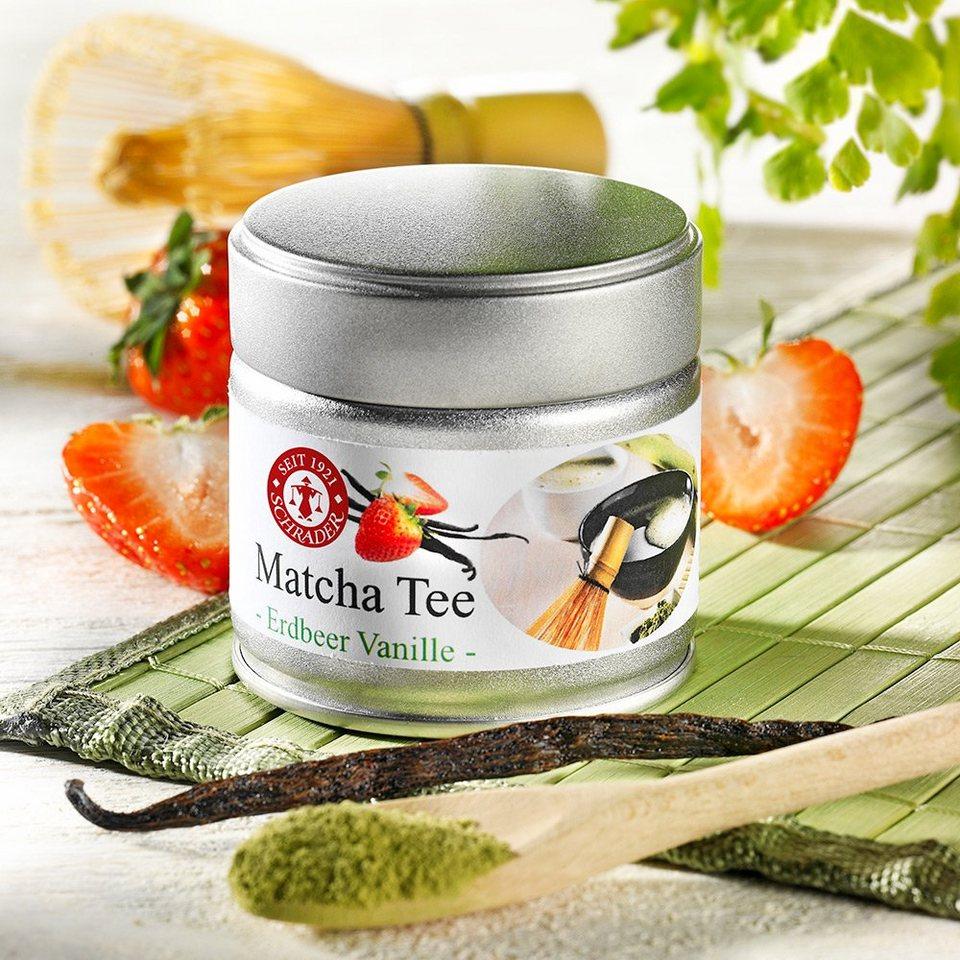 Schrader Matcha Tee Erdbeer-Vanille Bio
