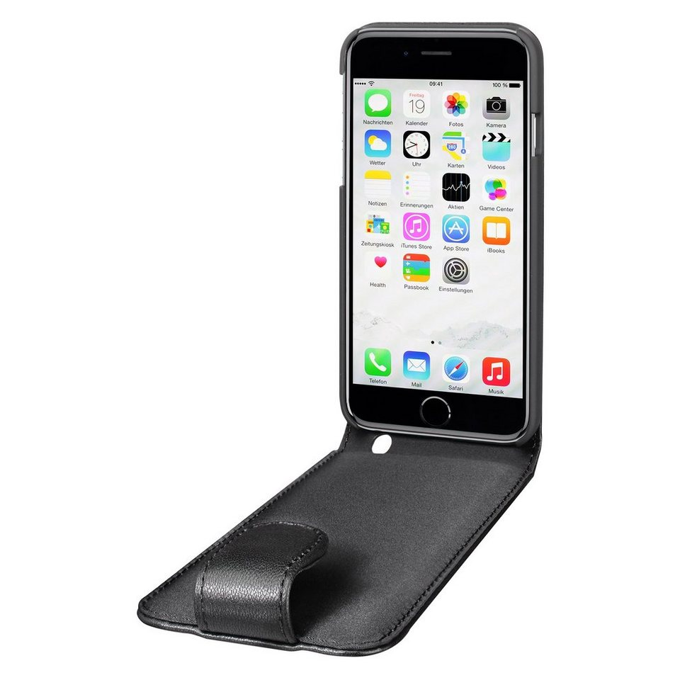 Artwizz Elegante Lederhülle mit sicherem Rundumschutz »SeeJacket Leather FLIP iPhone 6/6s Plus« in Schwarz