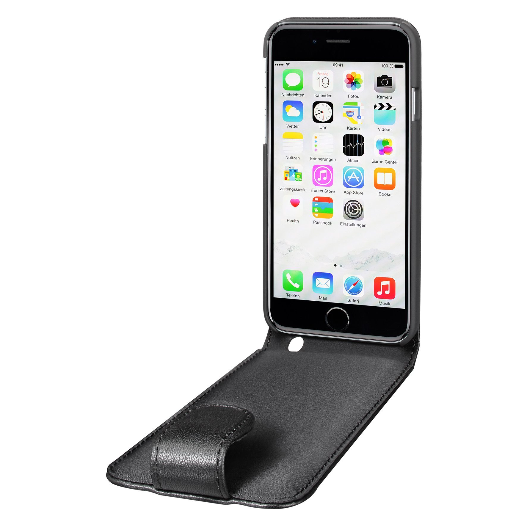 Artwizz Elegante Lederhülle mit sicherem Rundumschutz »SeeJacket Leather FLIP iPhone 6/6s Plus«