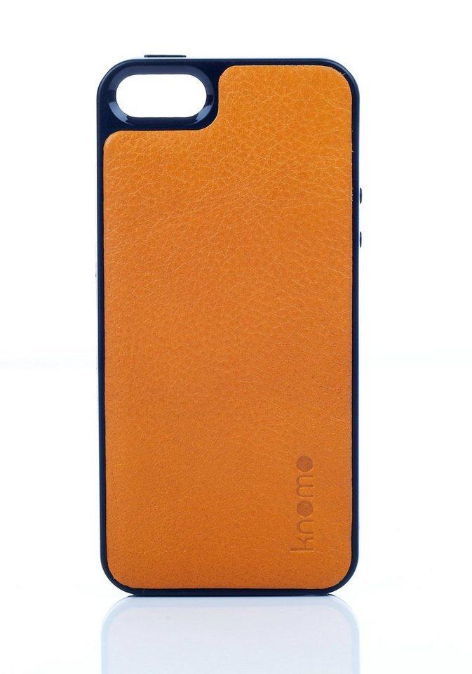 Knomo Leder-Hartschale »OpenFace für iPhone 5/5s, SE« in Ocker
