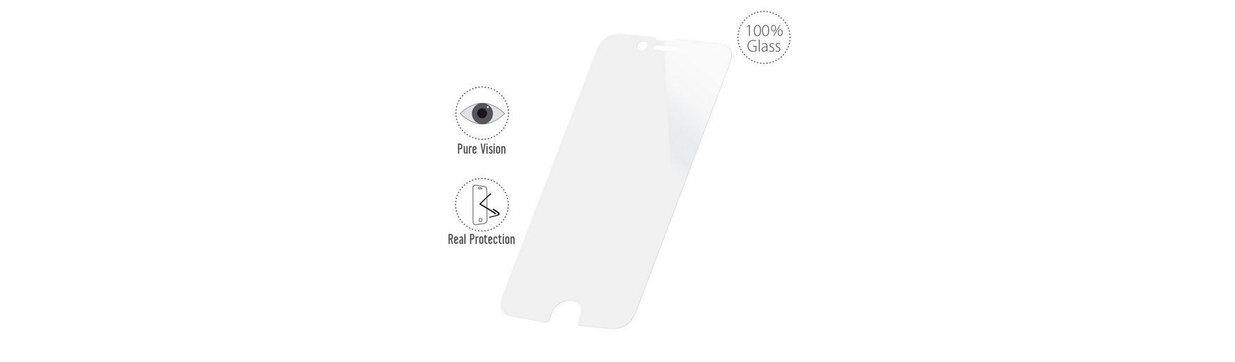 Artwizz Sicherer Displayschutz aus gehärtetem Glas »2nd Display für iPhone 6/6s«