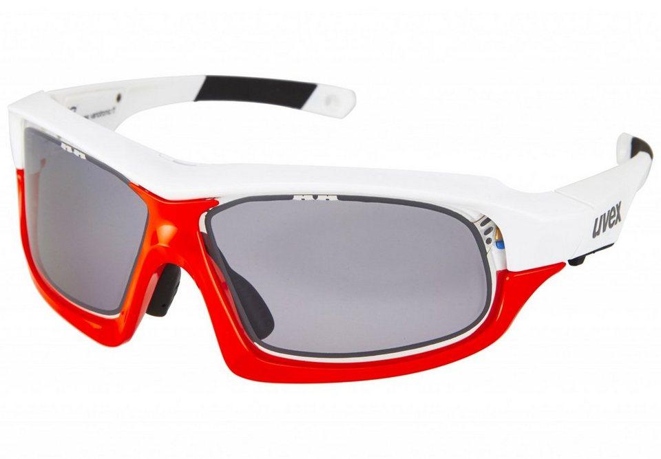 Uvex Radsportbrille »variotronic ff Brille« in weiß