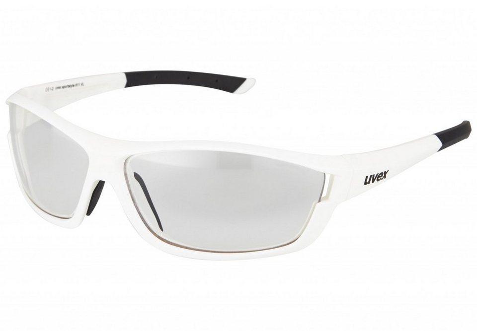 UVEX Radsportbrille »uves sportstyle 710 vm Brille« in weiß
