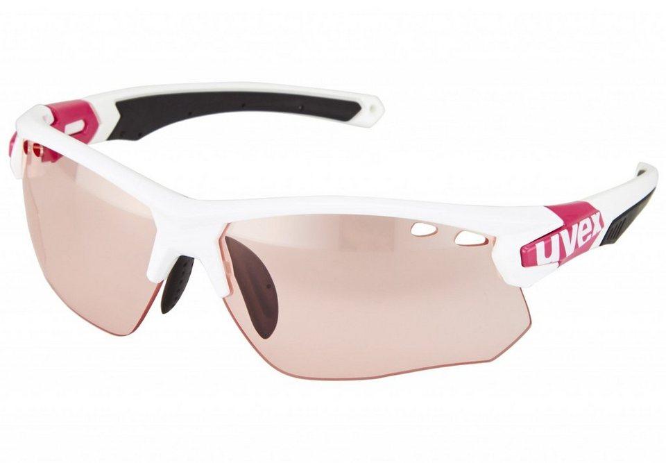 UVEX Radsportbrille »sportstyle 109 vario Brille« in weiß