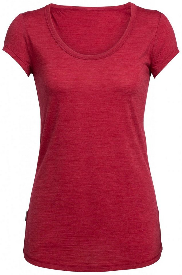 Icebreaker T-Shirt »Spheria SS Scoop Women« in rot