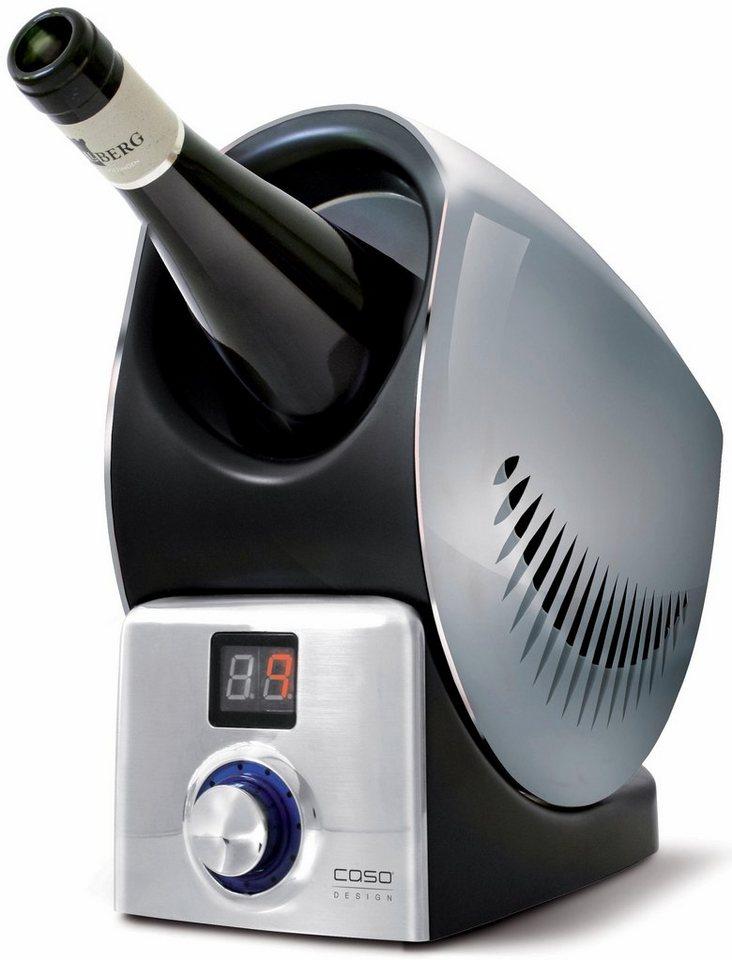 CASO Design Weinkühler »WineControl« in silber / schwarz
