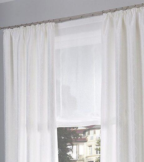 Raffrollo »Malin«, my home, mit Klettband, Farbe: Wollweiss