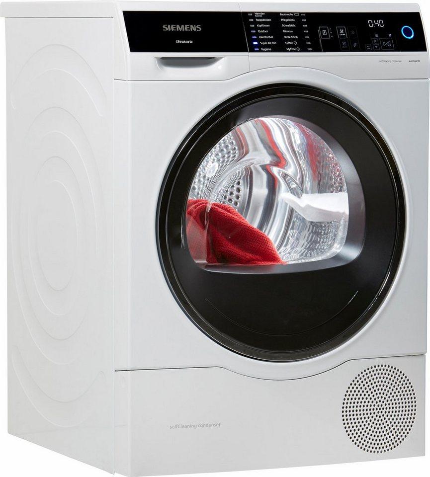 SIEMENS Trockner WT47U640, A+++, 8 kg in weiß