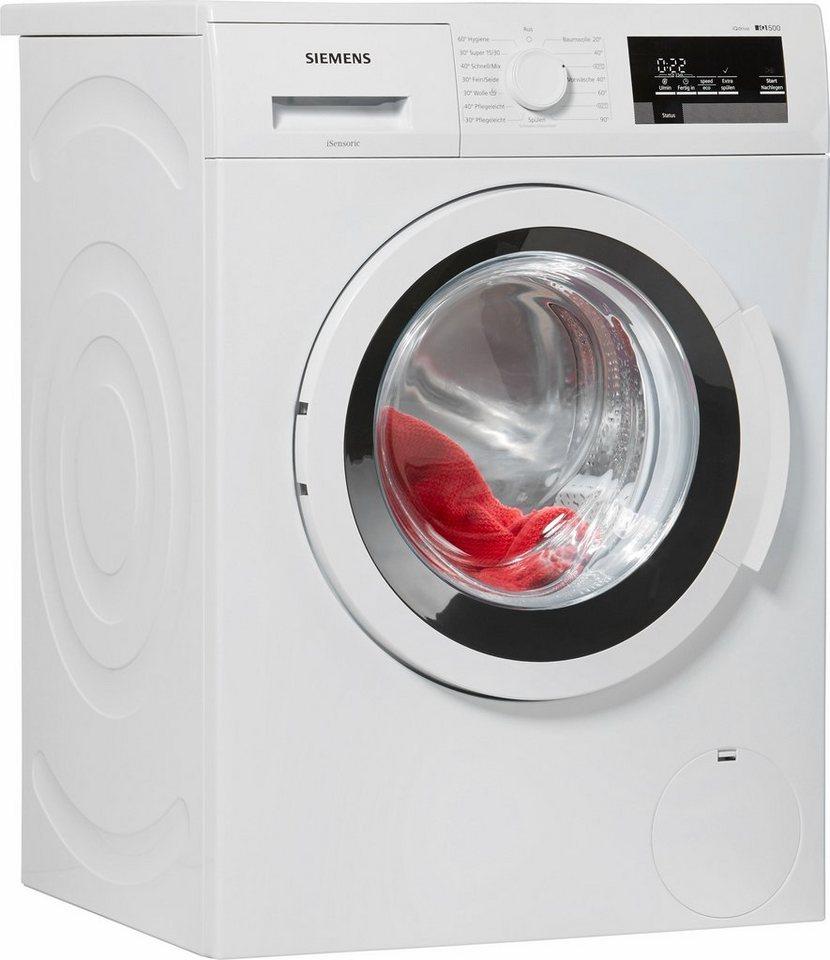 SIEMENS Waschmaschine WM14T3V0, A+++, 8 kg, 1400 U/Min in weiß