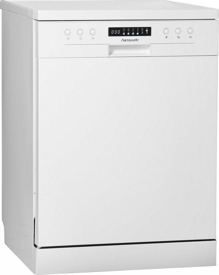 Hanseatic Geschirrspüler WQP12-J7609D white A+++, A+++, 10 Liter, 13 Maßgedecke in weiß