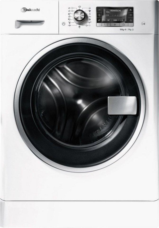 BAUKNECHT Waschtrockner WATK PRIME 10716, A, 10 kg / 7 kg, 1.600 U/Min in weiß
