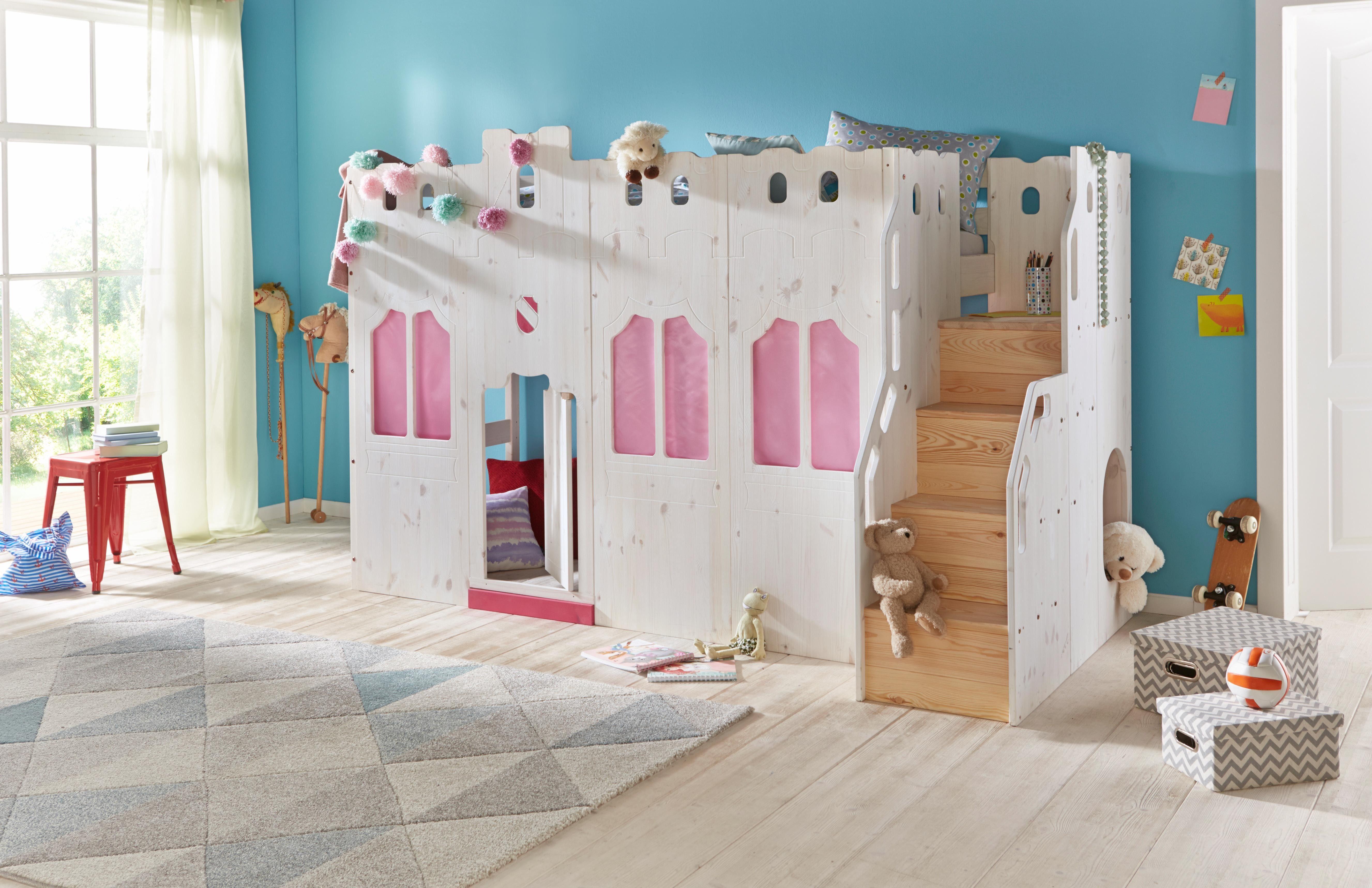 Kinder Etagenbett Prinzessin : Hochbett prinzessin in weiß bei oli niki online bestellen