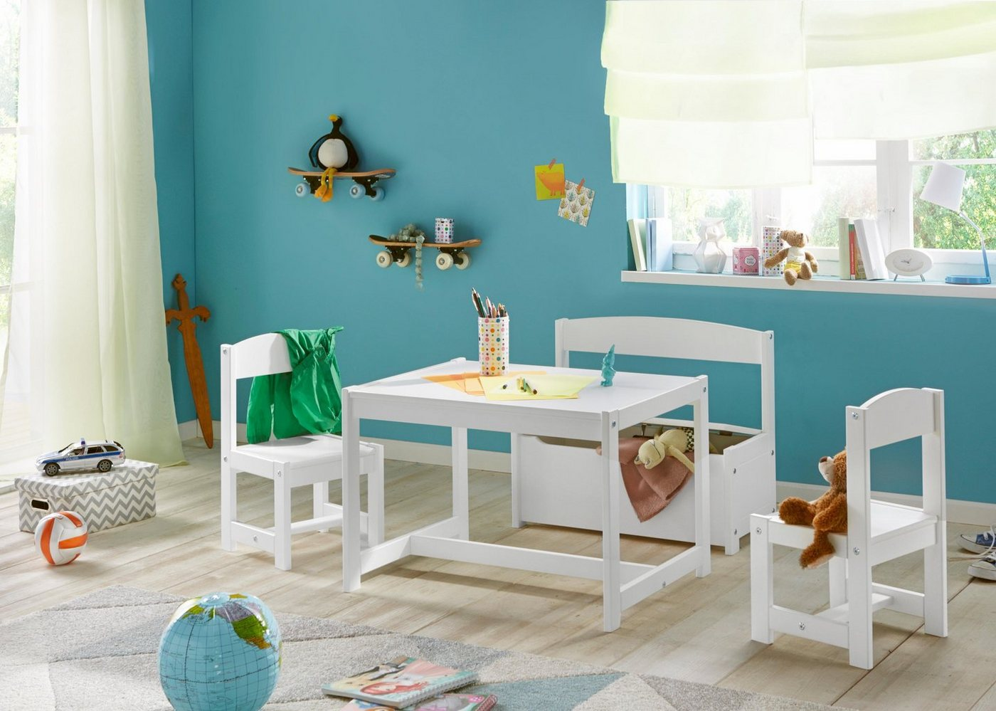 Sitzmöbel - Hoppekids Kinder Sitzgruppe (4 tlg.)  - Onlineshop OTTO