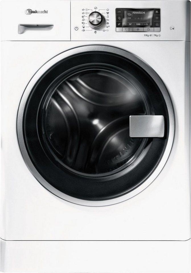 BAUKNECHT Waschtrockner WATK PRIME 11716, A, 11 kg / 7 kg, 1600 U/Min in weiß