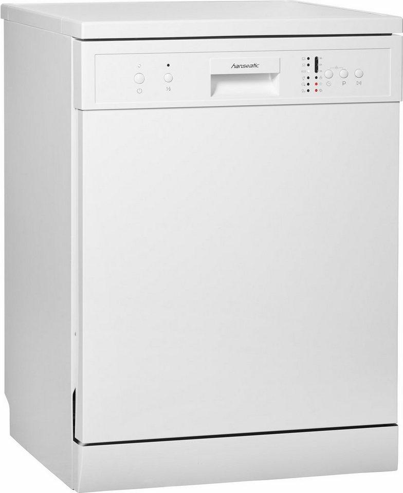 Hanseatic Geschirrspüler WQP12-7635 white A+, A+, 11 Liter, 12 Maßgedecke in weiß