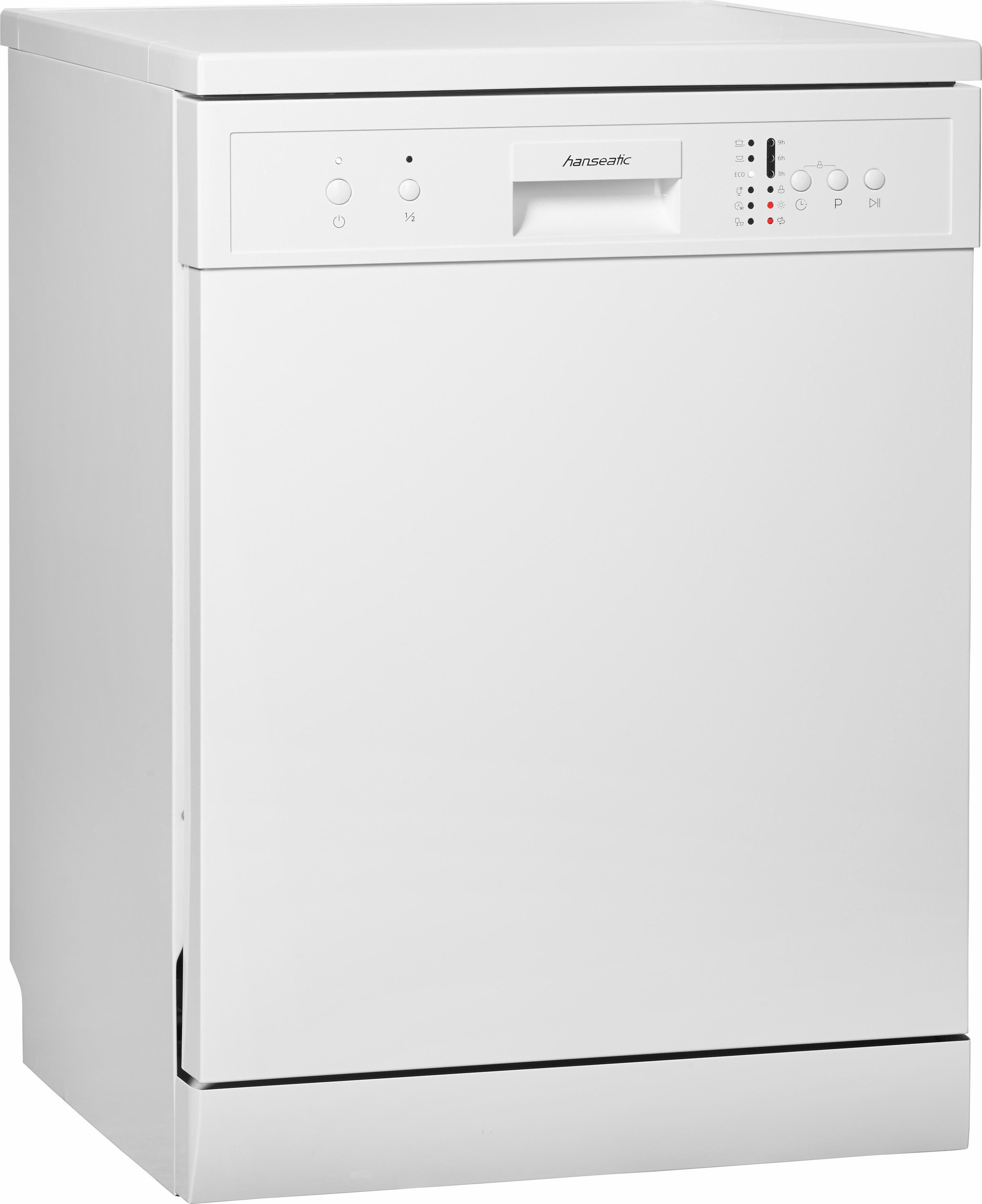 Hanseatic Standgeschirrspüler, WQP12-7635 white, 11 l, 12 Maßgedecke, Energieeffizienzklasse A+