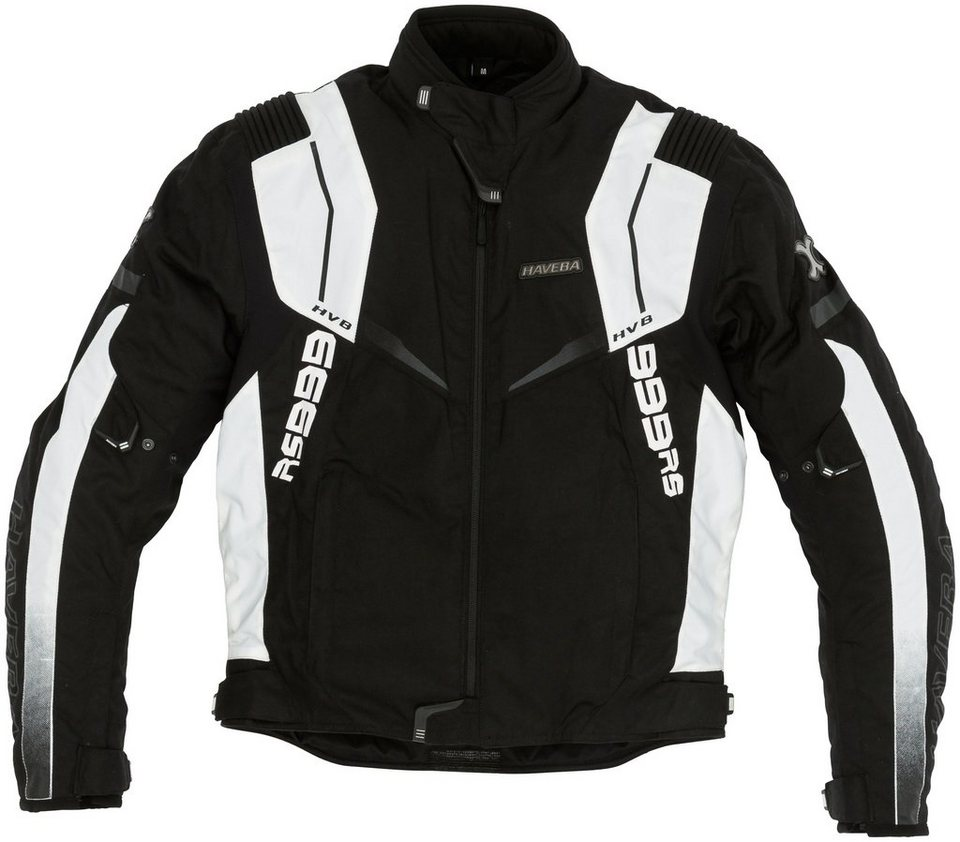 Herrenmotorradjacke »HVB 999 RS« in schwarz/weiß