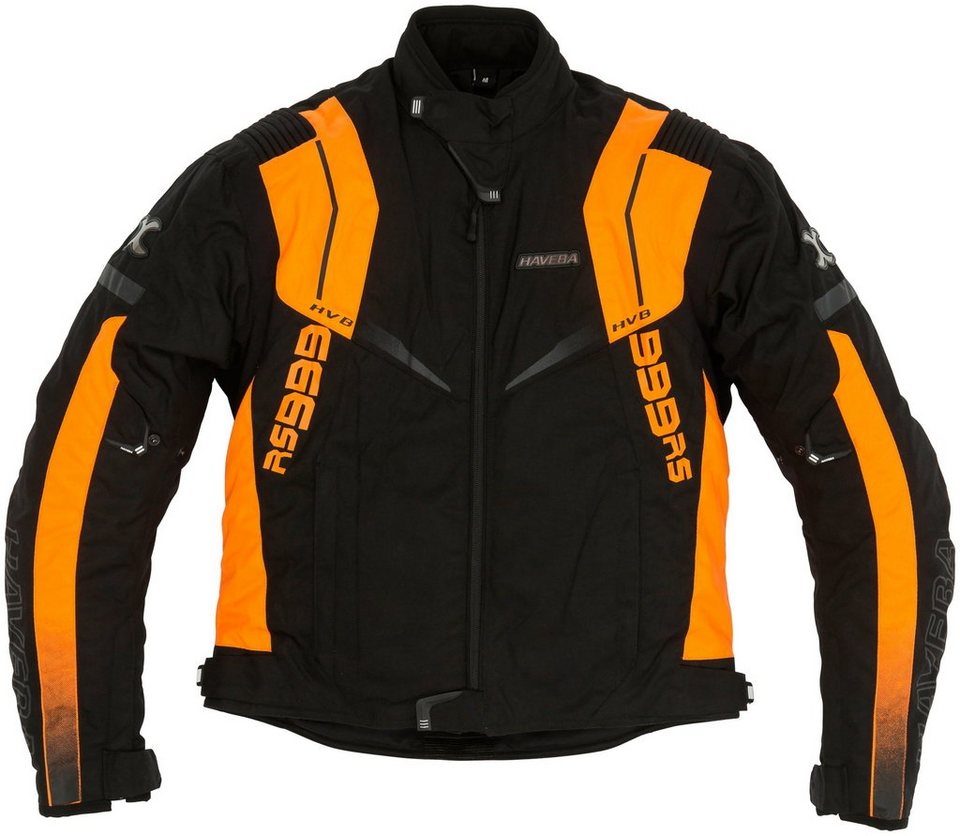 Haveba Herrenmotorradjacke »HVB 999 RS« in schwarz/orange