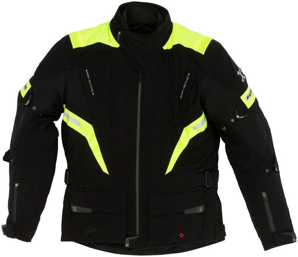 Herrenmotorradjacke »Faster« in schwarz/gelb