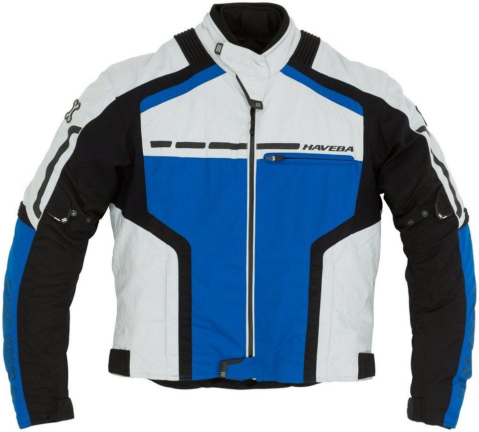 Haveba Herrenmotorradjacke »Trigger« in blau